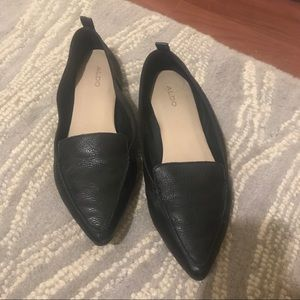 Leather black flats - Aldo